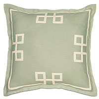 Resort Mint Fret Euro Sham