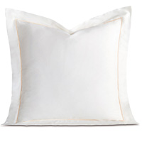 Linea Velvet Ribbon Euro Sham In White & Ecru