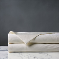 Roma Luxe Ivory Flat Sheet