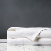 Roma Luxe White Flat Sheet