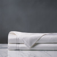 Lusso White Flat Sheet