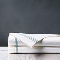 Tessa White/Lake Flat Sheet