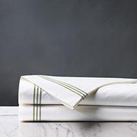 Tessa White/Pear Flat Sheet