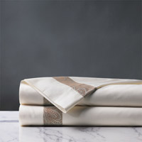 Cornice Ivory/Biscotti Flat Sheet