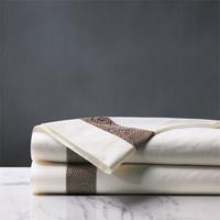 Cornice Ivory/Truffle Flat Sheet