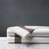 Cornice White/Truffle Flat Sheet