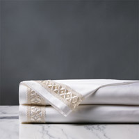 Juliet White/Ivory Flat Sheet
