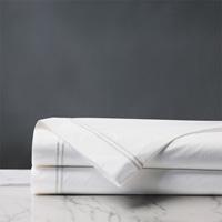Enzo White/White Flat Sheet