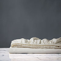 Lusso Ivory Fitted Sheet