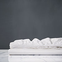Lusso White Fitted Sheet