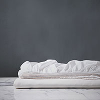 Emilio White Fitted Sheet