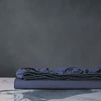 Palma Azure Percale Fitted Sheet
