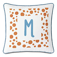 Hullabaloo Handpainted Monogram Decorative Pillow