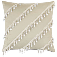 Jolene Beaded Decorative Pillow