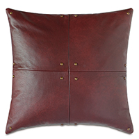 Kilbourn Leather Decorative Pillow