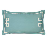 Resort Aqua Fret King Sham