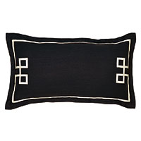 Resort Black Fret King Sham