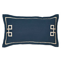 Resort Indigo Fret King Sham