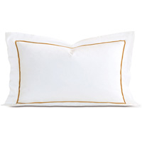 Linea White/Antique King Sham