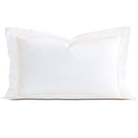 Linea Velvet Ribbon King Sham In White & Ecru