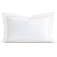 Linea Velvet Ribbon King Sham In White & Nectar