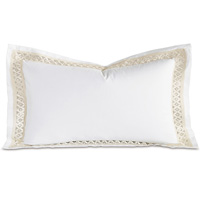 Juliet White/Ivory King Sham