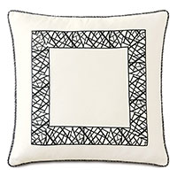 Medara Graphic Border Decorative Pillow