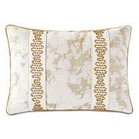 Marceau Metallic Marble Decorative Pillow