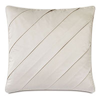 Marceau Diagonal Pleat Decorative Pillow