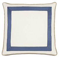 Maritime Nautical Accent Pillow In Ivory