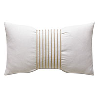 Naomi Linen Accent Pillow In Ivory
