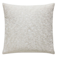 Naomi Textured Accent Pillow In Ivory