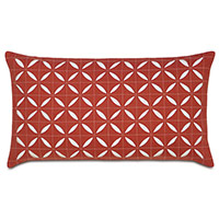 Breeze Scarlet Grid Oblong