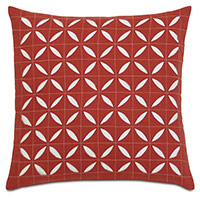 Breeze Scarlet Grid Square