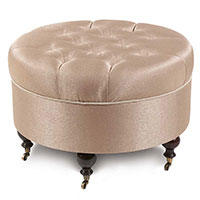 Dunaway Fawn Round Ottoman