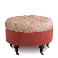 Rena Carnation Round Ottoman