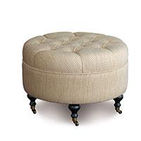 Momboro Sand Round Ottoman