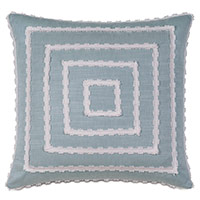 Penelope Mitered Trim Decorative Pillow