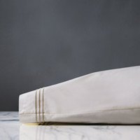 Tessa Ivory/Sable Pillowcase