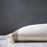 Cornice Lunetta Ivory/Biscotti Pillowcase