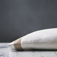 Cornice Lunetta White/Biscotti Pillowcase