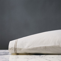 Enzo Ivory/Sable Pillowcase