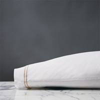 Enzo White/Bisque Pillowcase