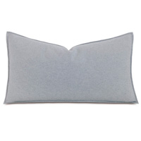 Brera Flannel Queen Sham In Gray