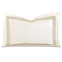 Cornice Lunetta Ivory/Pearl Queen Sham