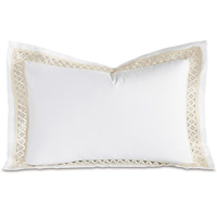 Juliet White/Ivory Queen Sham