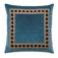Rudy Border Accent Pillow In Blue