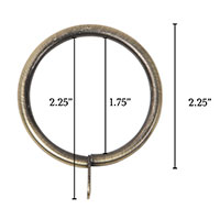 Metallo Brushed Brass Standard Ring