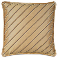 Roxanne Diagonal Trim Decorative Pillow