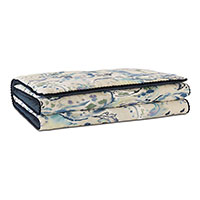 Tabitha Watercolor Paisley Bed Scarf